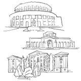 Yerevan Armenia Famous Buildings Royalty Free Stock Image