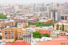 YEREVAN, ARMENIA, JUNE, 23: City Yerevan, mountain. Ridge of Caucasus,Armenia on June,23,2012.  View of old and new buildings in center of Yerevan Stock Image