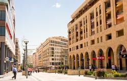 YEREVAN, ARMENIA-JUNE,24:North Avenue in Yerevan o Royalty Free Stock Photo