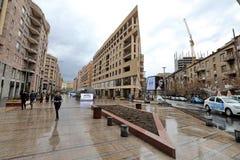YEREVAN ARMENIA, KWIECIEŃ, - 09, 2017: Architektoniczny zespół Zdjęcie Stock