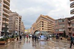 YEREVAN ARMENIA, KWIECIEŃ, - 09, 2017: Architektoniczny zespół Zdjęcie Royalty Free