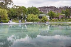 YEREVAN ARMENIA, MAJ, - 02: Łabędzi jezioro na Maju 02, 2016 w Yerevan Obrazy Royalty Free