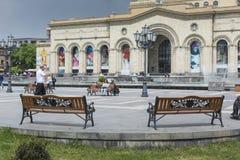 YEREVAN ARMENIA, MAJ, - 02, 2016: Historii muzeum i Nati Obrazy Stock