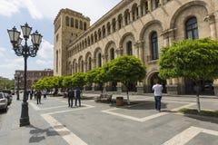 YEREVAN ARMENIA, MAJ, - 2, 2016: Rządowy dom Trzyma Zdjęcia Royalty Free