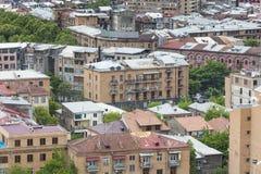 YEREVAN ARMENIA, MAJ, - 02, 2016: Widok Yerevan od kaskady, Tr Zdjęcia Royalty Free