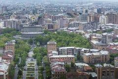 YEREVAN ARMENIA, MAJ, - 02, 2016: Widok Yerevan od kaskady, Tr Fotografia Stock