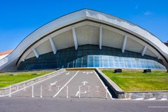 Yerevan, Armenia - March 17, 2018: Karen Demirchyan Sports and Concerts Complex. Large sports and concert complex located on Tsits Royalty Free Stock Image