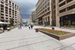 YEREVAN ARMENIA-MAY 02: Norr aveny i Yerevan på Maj 02, 2016 Royaltyfria Foton