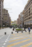 YEREVAN, ARMENIA-MAY 02: Północna aleja w Yerevan na Maju 02, 2016 Obraz Royalty Free