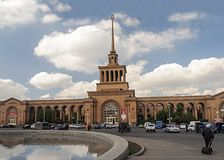Rail station in Yerevan, Armenia Royalty Free Stock Photography