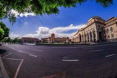 Yerevan. Armenia, Yerevan Republic squire in spring day Royalty Free Stock Photography