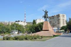 Yerevan, Armenia, September, 06, 2014, Armenian scene: Nobody, the monument to  Vardan Mamikonian Stock Photos