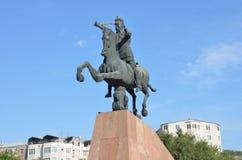 Yerevan, Armenia, September, 06, 2014, Armenian scene: Nobody, the monument to  Vardan Mamikonian Stock Image