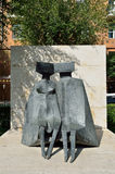 Yerevan, Armenia, September, 06, 2014. Armenian scene: Urban sculpture in Yerevan,  Stock Image