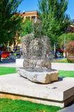 Yerevan, Armenia - 26 September, 2016: The sculpture, Jaume Plensa, Spain, Shadows, located in Cafesjian Art Center. Garden, Cascade Modern Art Museum royalty free stock photography