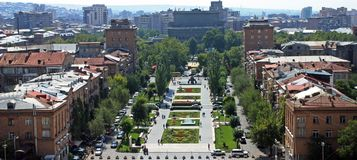 View on Yerevan city. royalty free stock photos