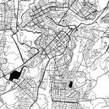 Yerevan Armenia Vector Map Royalty Free Stock Photo
