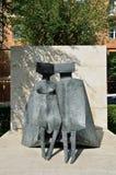 Yerevan, Armenia, Wrzesień, 06, 2014 Armeńska scena: Miastowa rzeźba w Yerevan, obraz stock