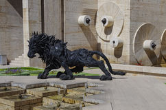 Yerevan Armenien, September, 14, 2013 Armenisk plats: Urban scu royaltyfri bild