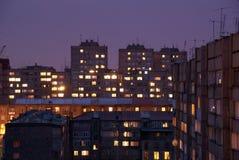 Yerevan bij nacht Stock Foto's