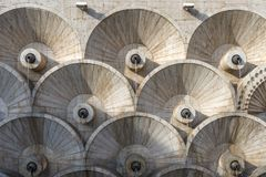 Yerevan cascade abstract architecturaal patroon in Armenië royalty-vrije stock foto's
