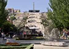 Yerevan Cascade in the capital of Armenia. royalty free stock photo