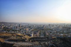 The view on Yerevan city royalty free stock images