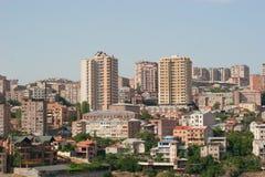 Yerevan city. View from Tsitsenakaberd hill, Yerevan, Armenia stock photos