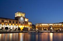 Yerevan, cuadrado de la república foto de archivo libre de regalías