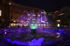 Yerevan dansspringbrunnar Arkivbilder
