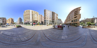 Yerevan 360 degree Virtual reality photo. Yerevan is the capital and largest city of Armenia, and one of the world's oldest continuously inhabited cities Royalty Free Stock Photography
