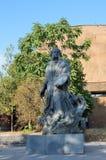 Yerevan, een monument aan de schilder Hovhannes Ayvazyan stock foto