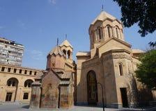Yerevan Kathoghike Church Outside stock photography