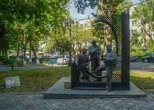 Yerevan parkerar statyn arkivbild
