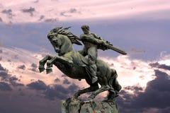 Yerevan, pomnikowy David Sasun - bohatera ormianina epopeje Zdjęcie Royalty Free