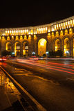 Yerevan republic square at night Royalty Free Stock Image