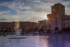 Yerevan, Republik-Quadrat Lizenzfreie Stockfotografie