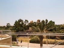 YERICHO, ISRAEL - 14. JULI 2014: Pilger in Qasr EL Yahud Acco Lizenzfreies Stockfoto