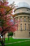 Yerkes观测所,秋天颜色 免版税库存照片