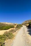 Yermo en la isla de Crete imagen de archivo