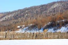 Yermo en nieve del invierno Foto de archivo libre de regalías