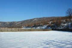 Yermo en nieve del invierno Foto de archivo
