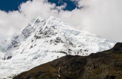 Yerupajá Chico, Cordillera Huayhuash, Peru. Yerupajá Chico, one of the main mountains that forms the backbone of the Cordillera Huayhuash range in central royalty free stock photos