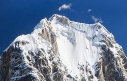 Yerupajà ¡,山脉Huayhuash,秘鲁 免版税库存照片