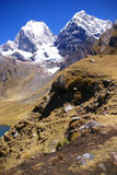 Yerupaja mountain in high Andes Royalty Free Stock Image