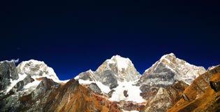 Yerupaja Peak in Cordiliera Huayhuash Stock Images