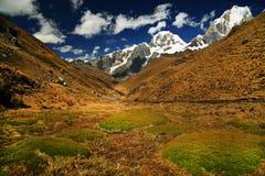 Yerupaja Peak in Cordiliera Huayhuash Stock Photo