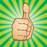 Yes. Vector hand showing thumbs up Royalty Free Stock Photos
