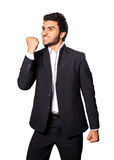 Yes. Young businessman says, yes I did it Royalty Free Stock Photos