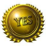 Yes Royalty Free Stock Image